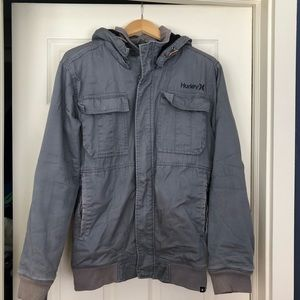 Hurley peak apex grey flannel lined jacket large